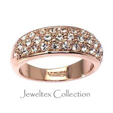 18K Rose Gold GP Anniversary Eternity Ring W/ Austrian Crystals. JO980