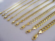 "1.5MM- 9MM 10K YELLOW GOLD D/C CUBAN LINK WOMEN'S MEN'S  NECKLACE CHAIN 16""-30"""
