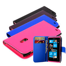 4 Colour New Pu Leather Smart Book Wallet Flip Case Cover For Nokia Lumia 800