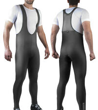 Men's Bib Tights Thermo Roubaix Fleece Cycling Bibs Padded Biking Bibtights