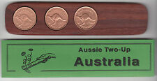 Jarrah two-up game set w/three original Australian pennies 46 years available.