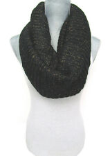 GOLD FOIL INFINITY KNIT SCARF soft warm eternity cowl winter designer trend