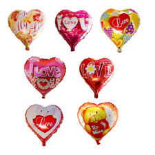 """Valentines Day Heart Shaped Helium Inflatable Foil Balloon Party Love Roses 18"""""""