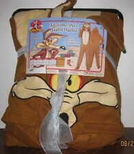 XL 2XL WILE E. COYOTE Hooded Footed Pajamas HALLOWEEN  Costume OFFICIAL LICENSED