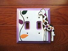 Hand-Painted Wood LIGHT SWITCH PLATE COVER for COCALO JACANA Crib Bedding New