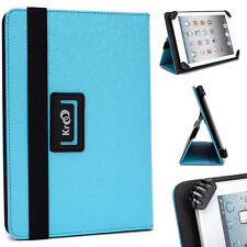 "Kroo Light Blue Universal Adjustable Folio Stand Cover for 7"" Tablets"