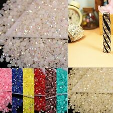 12g (2000pcs) Various Colors Flatback Half Round Acrylic Beads 3mm for DIY Craft