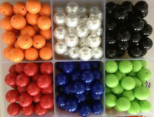 20MM 100pcs/lot 6 Colors Big Chunky Gumball Bubblegum Acrylic Solid Beads new