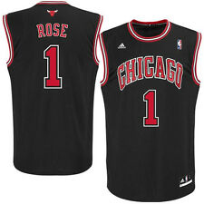Derrick Rose YOUTH Jersey Chicago Bulls Black by Adidas NWT