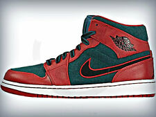 AIR JORDAN 1 MID  633206-608 WOOL GYM RED DARK SEAN GREEN OG PREMIER