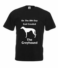 On The 8th Day God creato il LEVRIERO T-Shirt da uomo regalo di natale dog