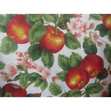 "APPLE PRINT POLY COTTON FABRIC 58"" WIDE BY THE YARD"