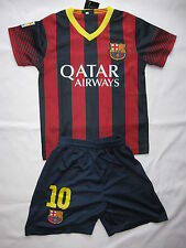 KIDS #10 MESSI FC BARCELONA SOCCER JERSEY & SHORT YOUTH SIZES HOME MAILLOT 13/14
