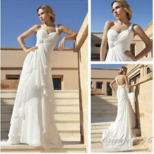 New Wedding Dresses Gorgeous  One Shoulder Bridal Gowns Custom Size  V Neck