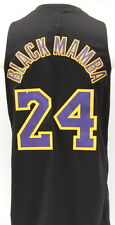 Kobe Bryant Black Mamba Los Angeles Lakers Black Limited Edition Swingman Jersey