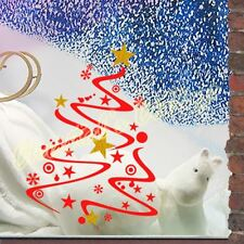 Christmas Tree Shopwindow Show Window Wall Art Decoration Sticker Decals