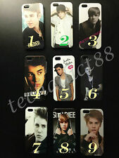 """Justin Bieber Back Cover Clear Case for Apple iPhone 5/5S """"Great Gift Ideas"""