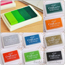 ALL Colors Mini Cube Colorbox Washable Child Kids Ink Stamp Pad Inkpad DIY Pick