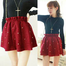 Woolen Mini Skirt Autumn Korea 2015 Rivet Hot New Fashion Winter Women's A-Line