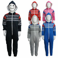 Childrens Toddler Aztec Boys Girls Kids Soft Onesie Hooded All In One Jumpsuit