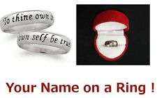 Name Rings Personalized Surgical Stainless Steel Comfort Fit Custom 5mm thin