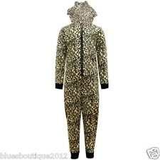 Kids Nifty Light Weight Hooded Fleece Leopard Onesie Aged 3-10 Years
