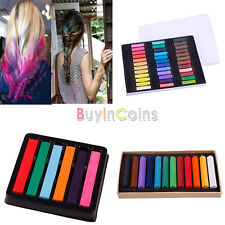 6/12/36 Color DIY Fast Non-toxic Temporary Pastel Hair Extension Dye Chalk Salon