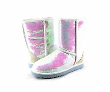 Women's Shoes UGG Australia Sparkles I Do! Seqins Short Boot White *New*