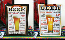 """HOW TO ORDER BEER AROUND THE WORLD"" Tin Sign Metal Wall Decor Bar Pub Tarvern"