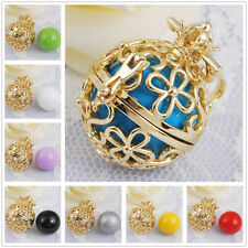 Angel Callers 18K Gold Harmony Ball Sounds Pendant Mexican Bola Belly Necklaces