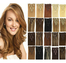 "New 16""18""20""22""24""26""28"" Clip in Remy Real Human Hair Extensions Straight"