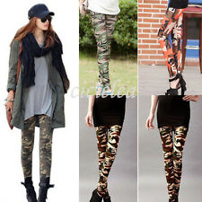 Cool Women Camouflage Army Print CAMO Stretch Leggings Soft Skinny Tight Pants