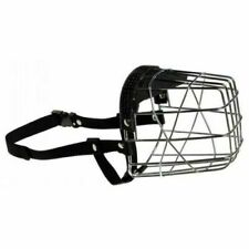 DOG WIRE / STEEL BASKET CAGE PADDED MUZZLE STRONG BRAND NEW ALL SIZES AVAILABLE