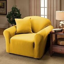 YELLOW JERSEY CHAIR STRETCH SLIPCOVER, COUCH COVER, FURNITURE CHAIR COVER
