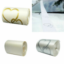 Wedding Car Ribbon White Silver Heart Ivory  5cm x 6m Decorations Supplies
