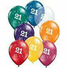 21st Birthday Party Latex Balloons Decorations Supplies
