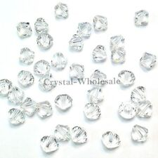 8mm Clear Crystal (001) Genuine Swarovski crystal 5328 / 5301 Loose Bicone Beads