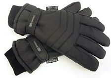 Mens Black Padded Thinsulate Ski  Work Biking Outdoor Gloves Thermal Lined