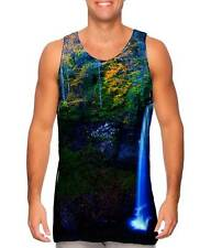 Yizzam- West Virginia Fall Foliage Forest Autumn Waterfall - New Men Tank Top T