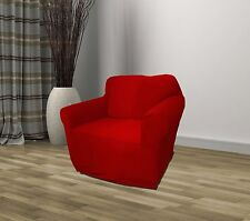 RED JERSEY CHAIR STRETCH SLIPCOVER, COUCH COVER, FURNITURE CHAIR, KASHI HOME