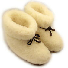 100% Natural Sheepskin SHEEP WOOL SLIPPERS, Warm BOOTY, Women's sizes;6,7,8,9.10