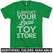 SUPPORT YOUR LOCAL TOY STORE T-shirt - Toys Vinyl Designer Art - NEW - XS-4XL