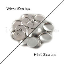 """Size 24 (5/8"""" - 15mm) Cover Buttons - Flat Back / Wire Back - Choose Quantity"""