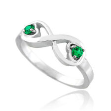 Sterling Silver Infinity Birthstone CZ Infinity Ring Available in all 12 Months
