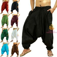 Indian Men Women Cotton Afghani Harem Pants Boho Hippie Aladdin Dance Trousers
