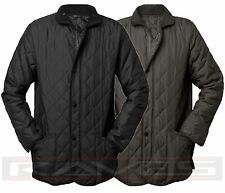 Mens Ladies Diamond Padded Quilted Hunter Style Jacket Coat Sk-Good Wood S-XXL