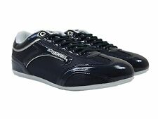 MENS NICHOLAS DEAKINS NEW DRACO SHINY TRAINERS IN NAVY COLOUR ALL SIZES