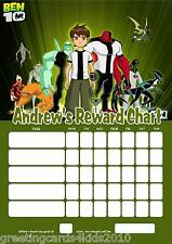 Personalised Ben 10 Reward Chart & Pen - with or without photo