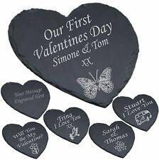 Personalised Heart Shaped Slate Cheese Board Valentine's Gift