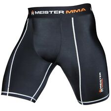 MEISTER COMPRESSION RUSH SHORTS w/ GROIN POCKET - MMA Vale Tudo Rash Guard NEW